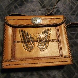 Tandy Leather box hand-stitched purse